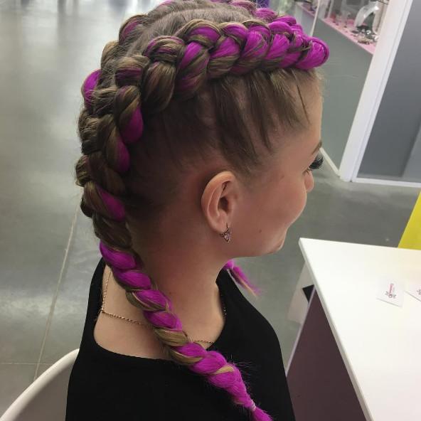 Причёски косы с вплетёнными волосами