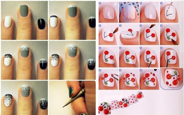 Идеи как красиво накрасить ногти в домашних условиях фото