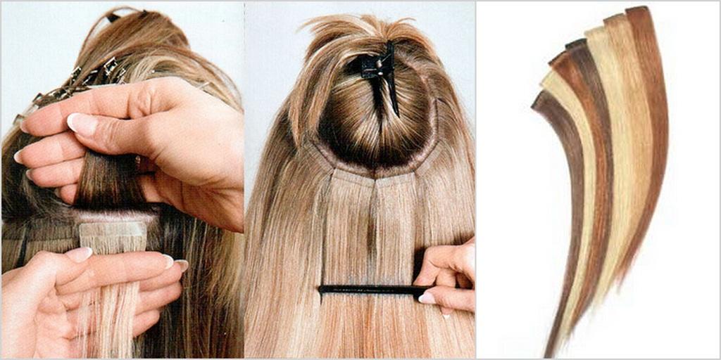 Как сделать волосы на ленте для наращивания