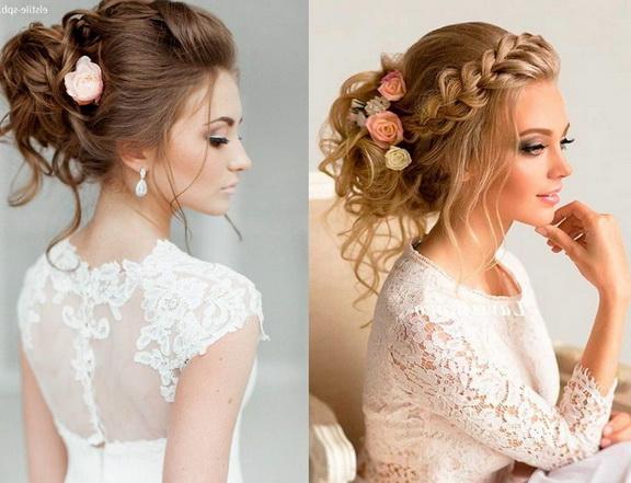 Модные свадебные прически этого года