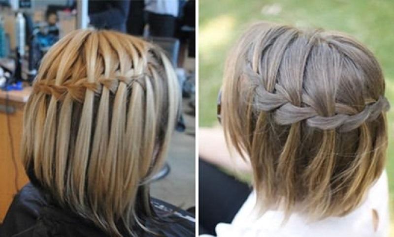 Плетение кос для коротких волос